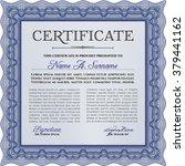 blue certificate. detailed.... | Shutterstock .eps vector #379441162