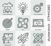 modern startup business mono... | Shutterstock .eps vector #379441882