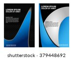 flyer for business   blue and... | Shutterstock .eps vector #379448692
