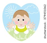 child and nature    | Shutterstock .eps vector #379451062