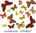 exotic colored butterflies... | Shutterstock . vector #37948207