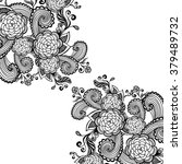 zen doodle background or ... | Shutterstock .eps vector #379489732