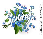 spring lettering  illustration... | Shutterstock .eps vector #379492672