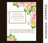 vintage delicate invitation... | Shutterstock .eps vector #379495432