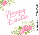 vector hand drawn easter... | Shutterstock .eps vector #379498042