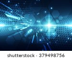 abstract futuristic digital... | Shutterstock .eps vector #379498756