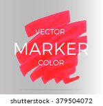 vector red stripes drawn with... | Shutterstock .eps vector #379504072