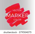 vector red stripes drawn with... | Shutterstock .eps vector #379504075