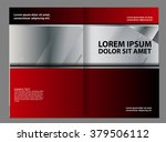 red brochure tri fold template  | Shutterstock .eps vector #379506112