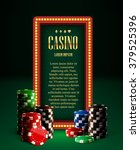 casino chips lamp vintage... | Shutterstock .eps vector #379525396