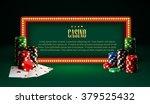 casino chips lamp vintage... | Shutterstock .eps vector #379525432