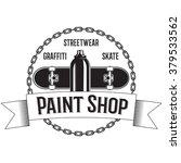 vintage black and white logo... | Shutterstock .eps vector #379533562