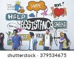 assistance support teamwork... | Shutterstock . vector #379534675