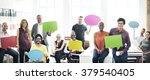 business team holding speech... | Shutterstock . vector #379540405