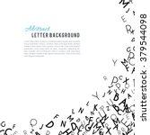 abstract black alphabet... | Shutterstock .eps vector #379544098