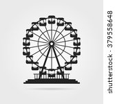 black ferris wheel with shadow. ... | Shutterstock .eps vector #379558648