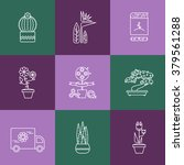 set of linear icons for flower... | Shutterstock .eps vector #379561288