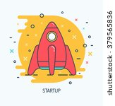abstract vector startup icon.... | Shutterstock .eps vector #379565836