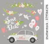 beautiful wedding clipart set... | Shutterstock .eps vector #379566196