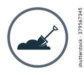 shovel digging the soil icon | Shutterstock .eps vector #379567345
