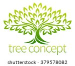 a stylised tree icon symbol... | Shutterstock .eps vector #379578082