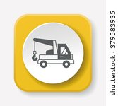 cargo truck icon   Shutterstock .eps vector #379583935