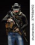 portrait  soldier or private... | Shutterstock . vector #379586902