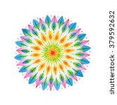 hand drawn mandala in... | Shutterstock . vector #379592632