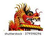 giant red chinese dragon... | Shutterstock . vector #379598296