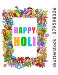 vector illustration of happy... | Shutterstock .eps vector #379598326