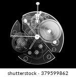 watch  3d xray transparent  | Shutterstock . vector #379599862