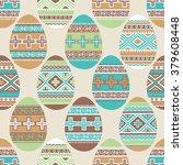 easter ornamental eggs... | Shutterstock .eps vector #379608448