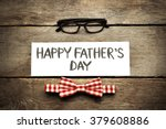 happy father's day inscription... | Shutterstock . vector #379608886