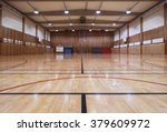 interior of an old gymhall | Shutterstock . vector #379609972