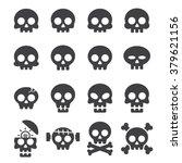 skull icon set | Shutterstock .eps vector #379621156