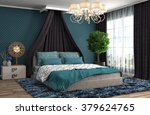 bedroom interior. 3d... | Shutterstock . vector #379624765