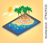 summertime tropical vacation... | Shutterstock .eps vector #379629232