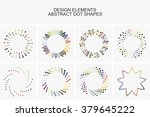 abstract colorful dot shapes... | Shutterstock .eps vector #379645222
