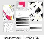 set of artistic creative... | Shutterstock .eps vector #379651132
