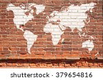 Antique Wall From Brick With...