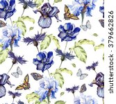pattern with watercolor... | Shutterstock . vector #379662826