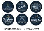 set of vector spa beauty yoga... | Shutterstock .eps vector #379670995