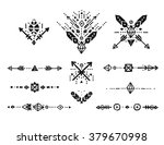 hand drawn tribal patterns with ... | Shutterstock .eps vector #379670998