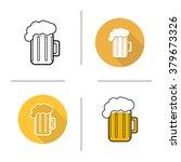 glass of beer flat design ... | Shutterstock .eps vector #379673326