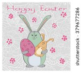 cute easter rabbit. holiday