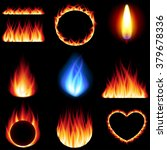fire forms icons detailed photo ... | Shutterstock .eps vector #379678336