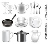 crockery icons detailed photo... | Shutterstock .eps vector #379678366