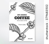 coffee packaging design. coffee ... | Shutterstock .eps vector #379683502