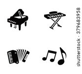 piano vector icons | Shutterstock .eps vector #379683958