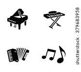 piano vector icons | Shutterstock .eps vector #379683958